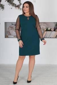 Платье короткое нарядное однотонное Ф5525