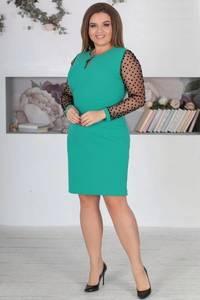 Платье короткое нарядное однотонное Ф5526