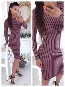 Платье короткое с длинным рукавом облегающее Ф8274