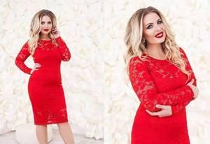 Платье короткое нарядное красное Ф5063