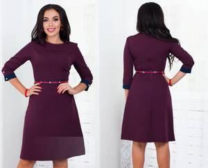 Платье короткое с рукавом 3/4 элегантное Ф5293