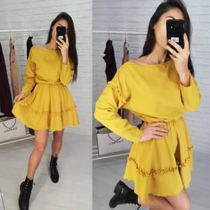 Платье короткое с длинным рукавом классическое Х0536