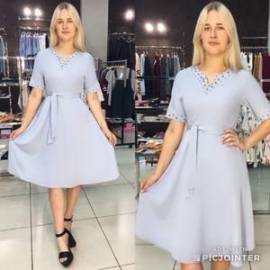 Платье короткое летнее однотонное Ф1537