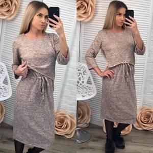 Платье короткое повседневное с рукавом 3/4 Ф2874