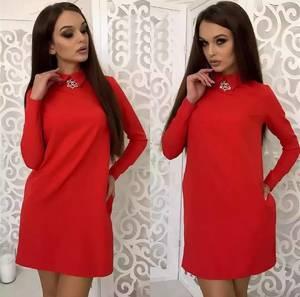 Платье короткое нарядное элегантное Ф3444