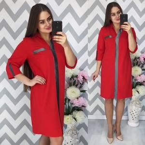 Платье короткое нарядное деловое Ф3892
