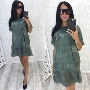 Платье короткое с принтом летнее У7403