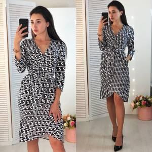 Платье короткое с рукавом 3/4 элегантное Ф5994