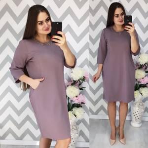 Платье короткое нарядное однотонное Ф6351