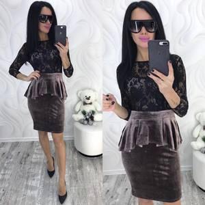 Платье короткое с рукавом 3/4 современное Ф8745