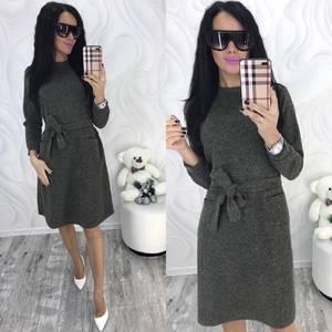 Платье короткое с длинным рукавом зимнее Ф8293