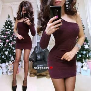 Платье короткое вечернее облегающее Ф8754