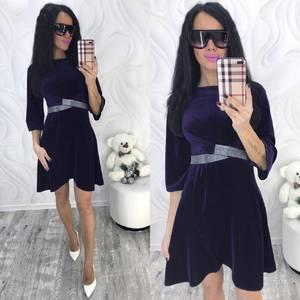 Платье короткое с рукавом 3/4 современное Ф8703
