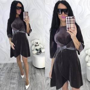 Платье короткое с рукавом 3/4 современное Ф8704