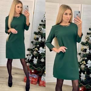Платье короткое с рукавом 3/4 современное Ф8791