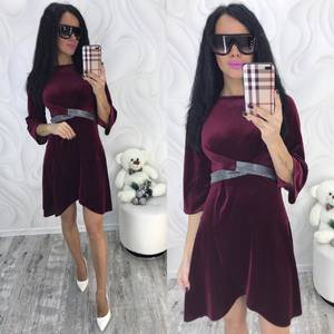 Платье короткое с рукавом 3/4 современное Ф8705