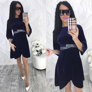 Платье короткое с рукавом 3/4 современное Ф8706