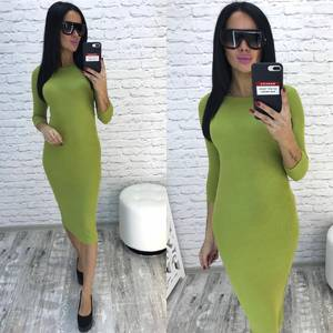 Платье короткое с рукавом 3/4 облегающее Ф8930