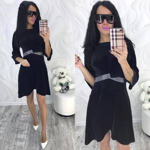 Платье короткое с рукавом 3/4 современное Ф8707