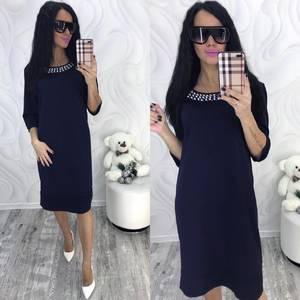 Платье короткое нарядное однотонное Ф8711