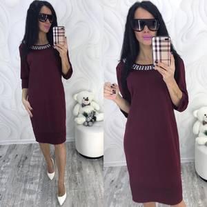 Платье короткое нарядное красное Ф8709