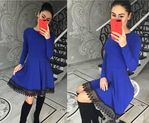 Платье короткое нарядное с длинным рукавом Х0186