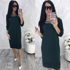 Платье короткое нарядное зеленое Ф8708