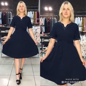 Платье короткое летнее однотонное Ф1538