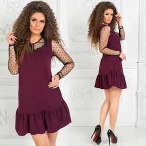 Платье короткое нарядное однотонное Ф7501