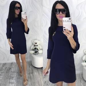Платье короткое с рукавом 3/4 современное Ф8695