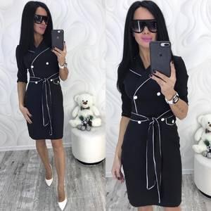 Платье короткое с рукавом 3/4 современное Ф8714