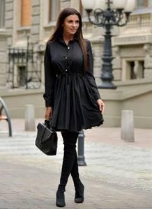 Платье короткое с длинным рукавом современное Ф6159