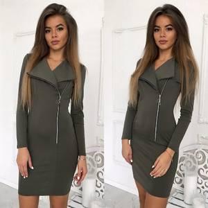 Платье короткое с длинным рукавом облегающее Ф8937
