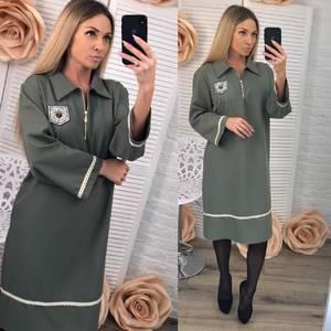 Платье короткое нарядное однотонное Ф3612