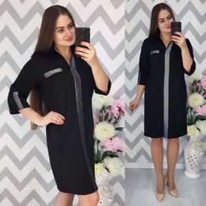 Платье короткое нарядное деловое Ф3894