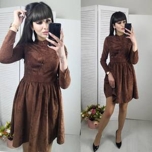 Платье короткое нарядное однотонное Ф6142