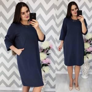 Платье короткое нарядное однотонное Ф6353