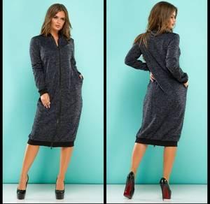 Платье короткое однотонное повседневное Ф7263