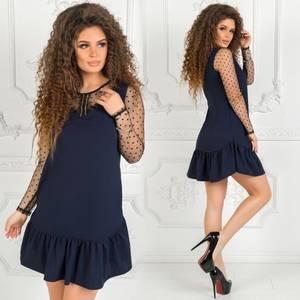 Платье короткое нарядное однотонное Ф7502
