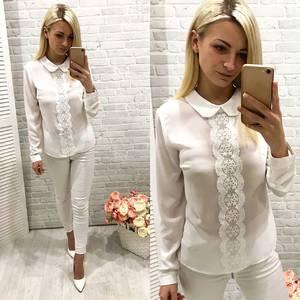 Блуза белая с длинным рукавом Ф0767