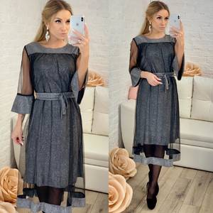 Платье короткое нарядное однотонное Ф8304