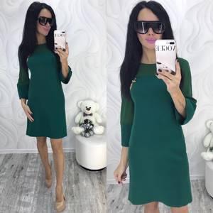 Платье короткое с рукавом 3/4 современное Ф8696
