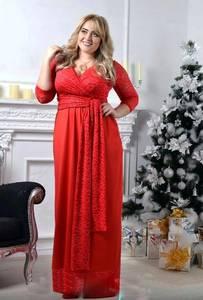 Платье длинное красное нарядное Х0527