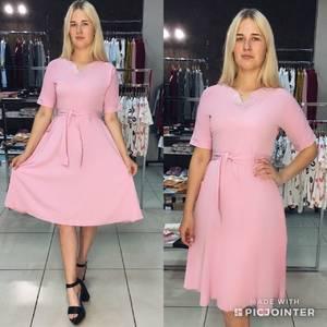 Платье короткое летнее однотонное Ф1539