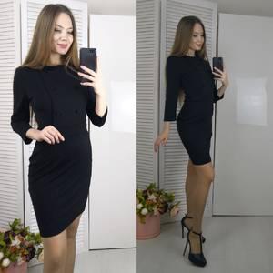 Платье короткое с рукавом 3/4 современное Ф8800
