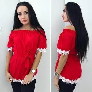 Блуза с коротким рукавом Ц3604