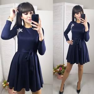 Платье короткое с длинным рукавом современное Ф8798