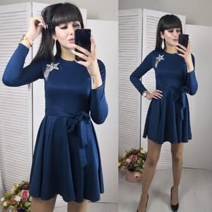 Платье короткое с длинным рукавом современное Ф8797