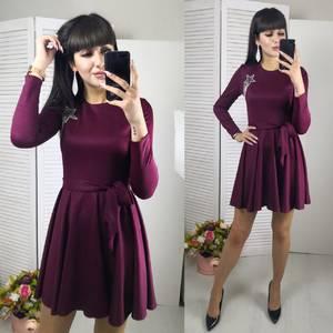 Платье короткое с длинным рукавом современное Ф8796