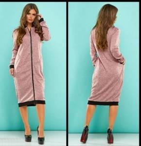 Платье короткое однотонное повседневное Ф7264